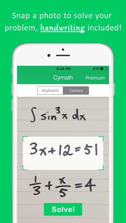 Cymath - Math Problem Solver screenshot-0