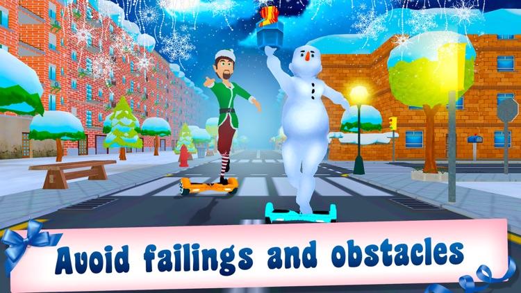 Christmas Santa Run: Hoverboard Simulator 3D Full screenshot-3