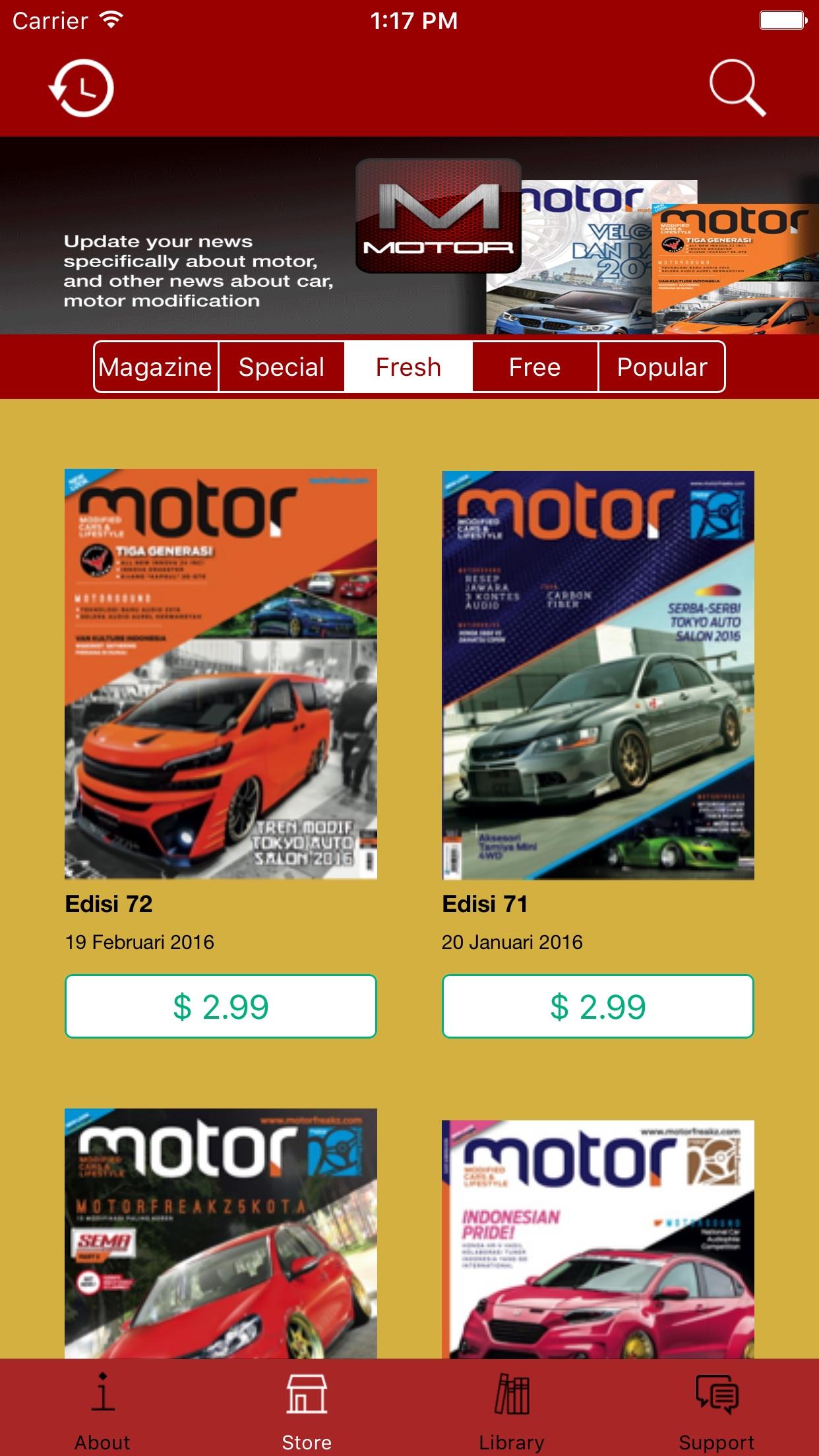 Majalah Motor Screenshot