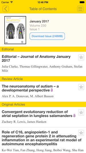 Journal of Anatomy on the App Store