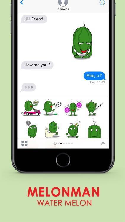 Melonman Ver.1 Sticker Emoji Keyboard By ChatStick