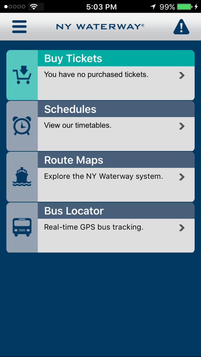 NY Waterway Screenshot