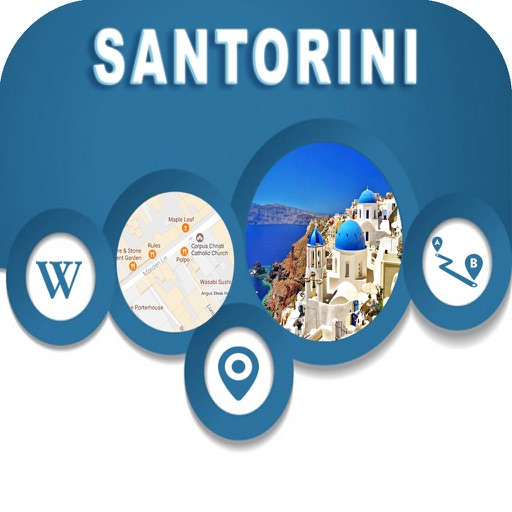 Santorini Islands Greece Offline City Maps