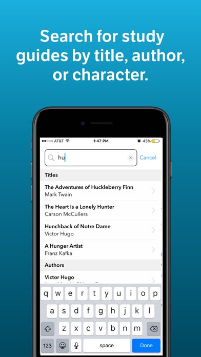 Screenshot 1 for SparkNotes's iPhone app'