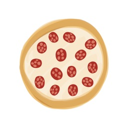 Pizza Foods sticker, cute food stickers for photos