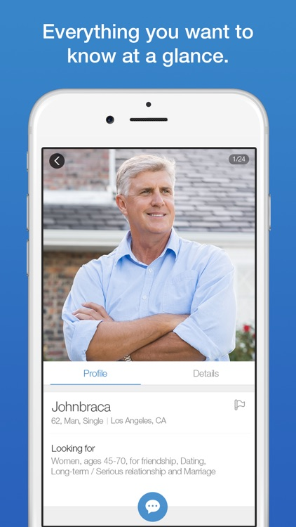 Senior citizen dating app