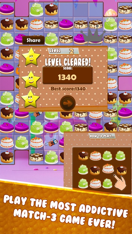 yummy cake match 3 screenshot-1