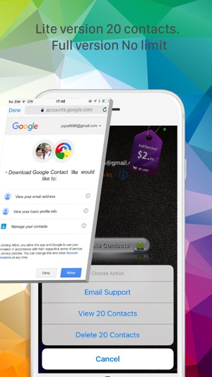 DownloadContacts ForGoogleLite on the App Store
