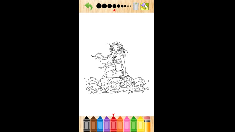 Mermaid Coloring Book screenshot-0