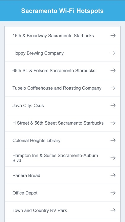 Sacramento Wifi Hotspots screenshot-1