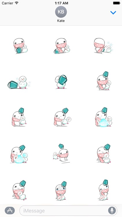 Xmas Of Lonely Snowman Stickers