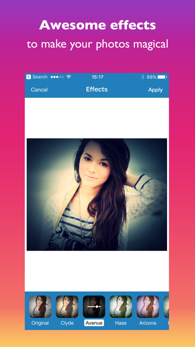 ePicEffects Screenshot on iOS