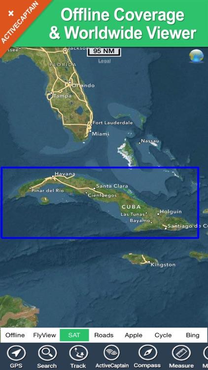 Cuba - GPS maps oflline chart & spot Navigator screenshot-4