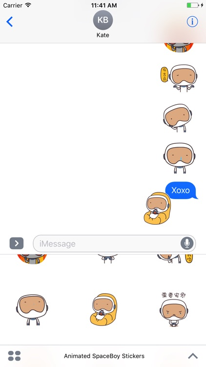 Animated SpaceBoy Stickers For iMessage screenshot-4