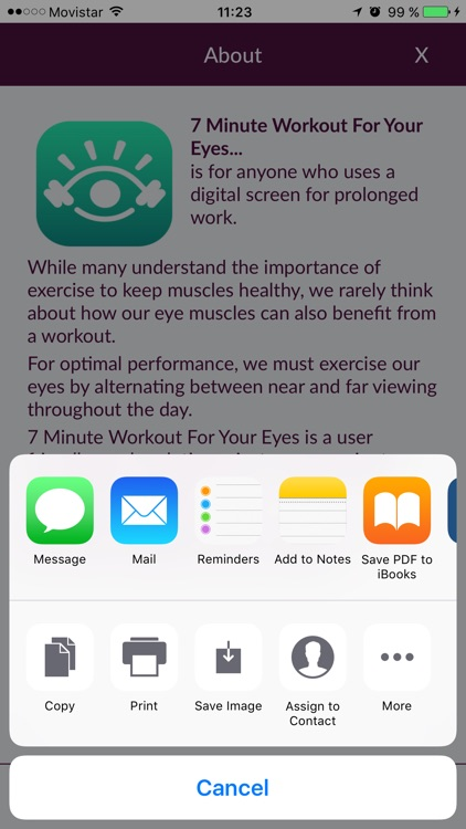 7 Minute Workout For Your Eyes screenshot-3