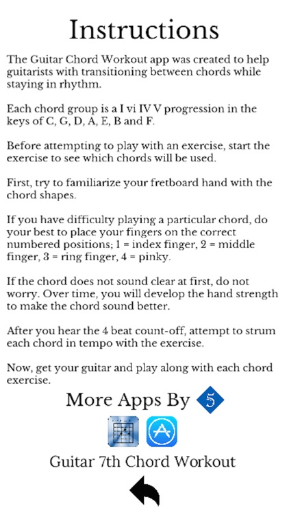 Guitar Chord Workout by 5 Diamond Music Services, Inc.