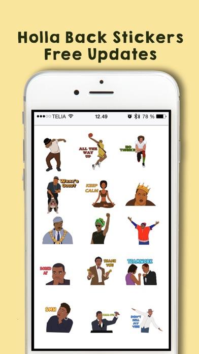 Holla Back Stickers Screenshot on iOS