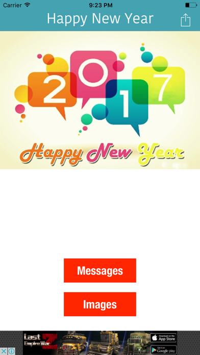 Happy New Year 2017 Messages & Greetings screenshot one