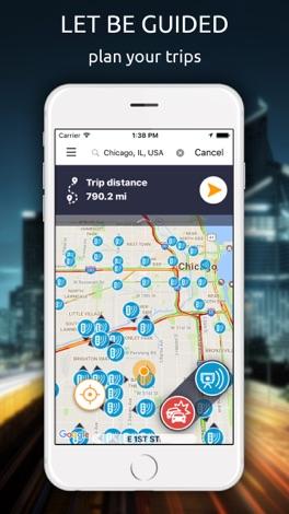 Glob - GPS, Traffic and radars screenshot for iPhone