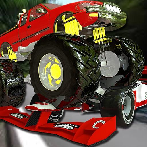 Monster Truck vs Formula Cars Pro