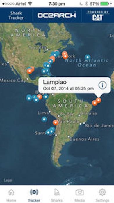 Screenshot 0 for OCEARCH's Shark Tracker's iPhone app'