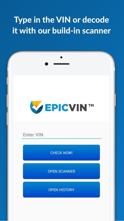 Epicvin VIN decoder & history reports