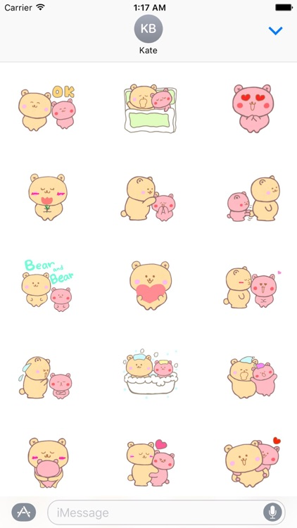 Couple Bear Stickers Pack