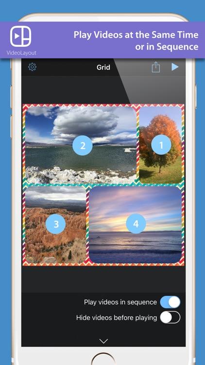 VideoLayout - mix Photos & videos Collage screenshot-4