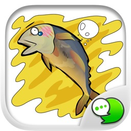 Cartoon Isan Eng V.Fried Tuna Sticker By ChatStick
