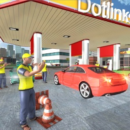 Gas Station Parking Service: Car Driving Simulator