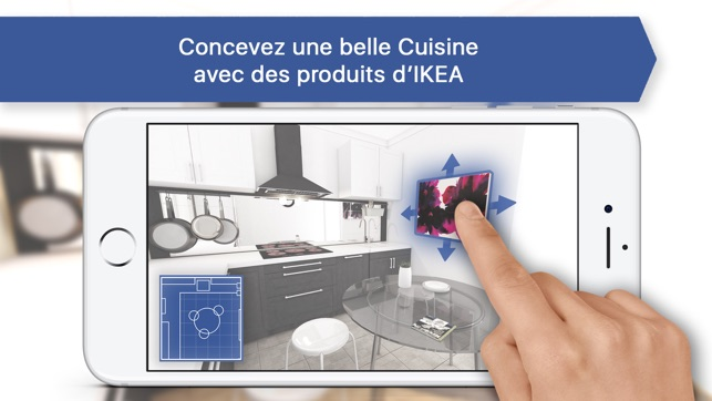 creer sa cuisine pour ikea 3d dans l app store. Black Bedroom Furniture Sets. Home Design Ideas