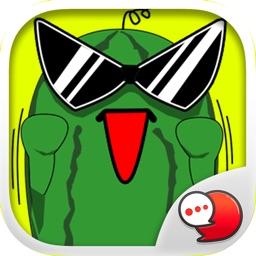 Melonman V.2  Sticker Emoji Keyboard By ChatStick