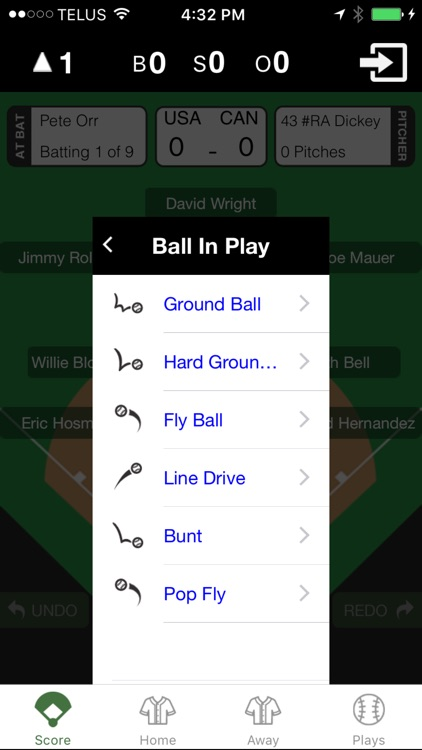 Amateur Baseball Scoring App