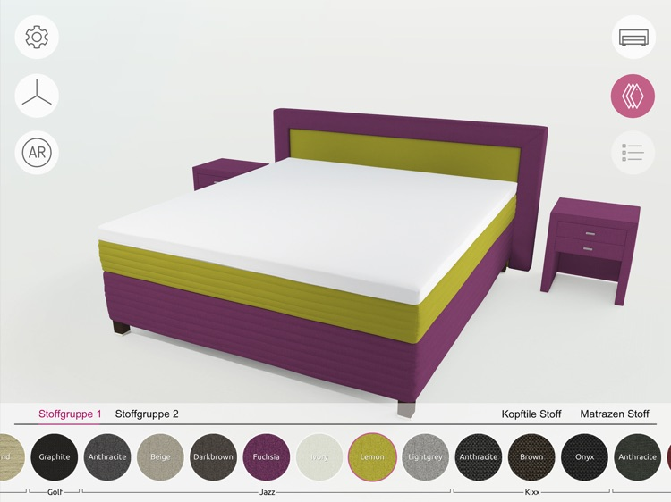 FEY boxspring configurator screenshot-2