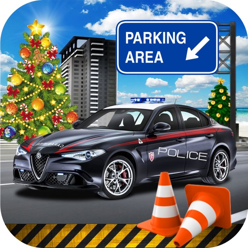 Charismas Police Car Park : Real Stunt Car Drive