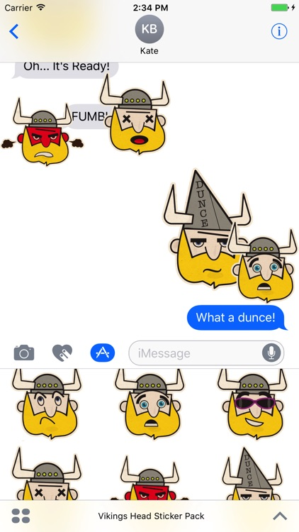 Vikings Head Sticker Pack screenshot-3