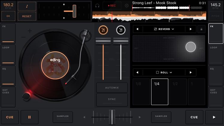 edjing Mix:DJ turntable to remix and scratch music screenshot-3