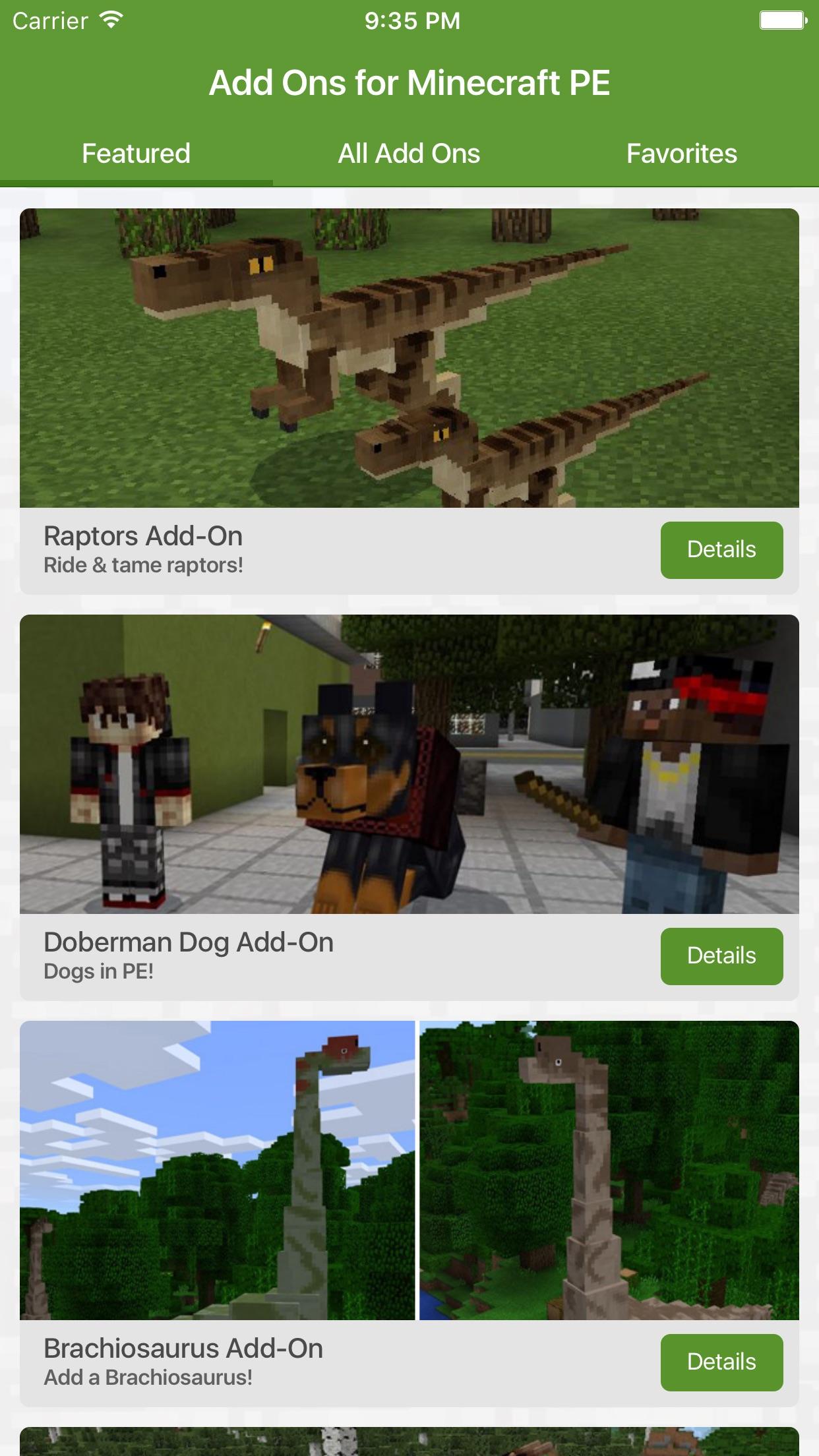 Add Ons for Minecraft PE (Minecraft Addons) Screenshot