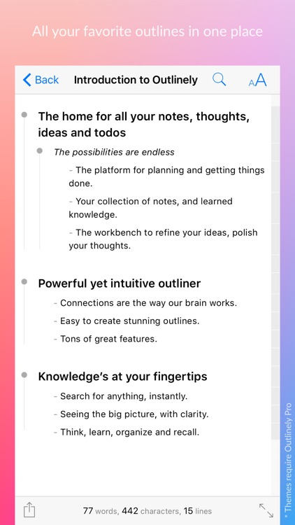 Outlinely - Outliner, beautiful outline & notes