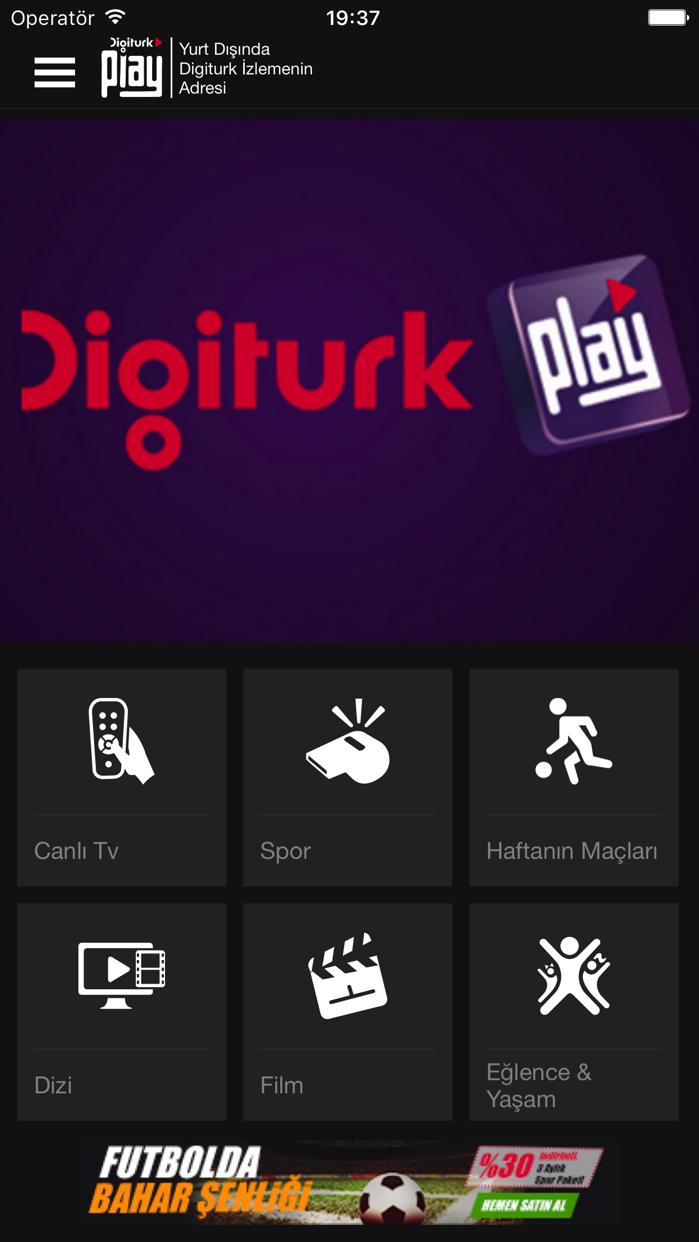 Digiturk Play Yurt Dışı Screenshot