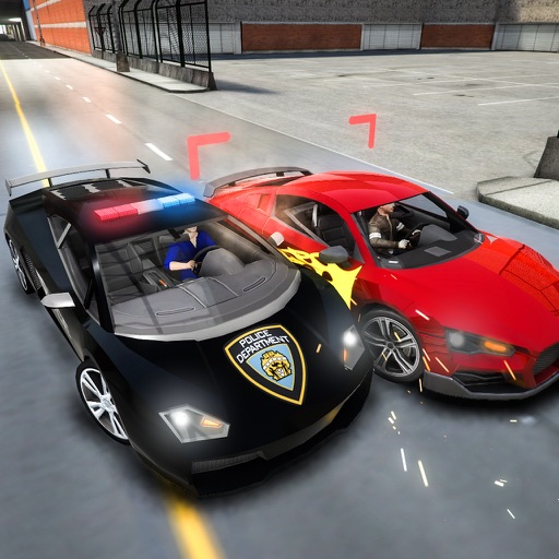 Police Car Chase Driving Simulator: Racing Cars By