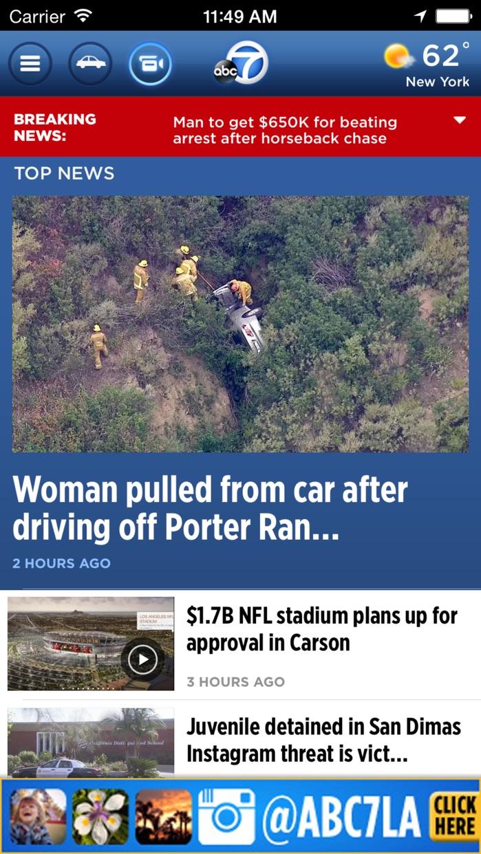 ABC7 Los Angeles: News, Traffic, Weather Screenshot