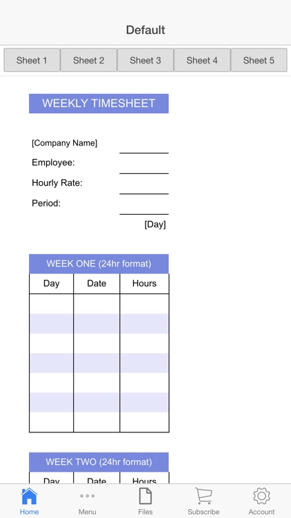 Business Timesheet