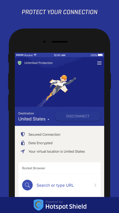 Rocket VPN – Private Browsing Screenshot