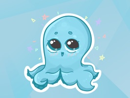 Sticker pack with a funny octopus in everyday IT and not-so-IT situations
