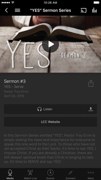 Life Change Church App screenshot two