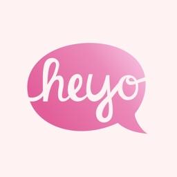 Heyo - Beautiful Handwritten Color Speech Bubble