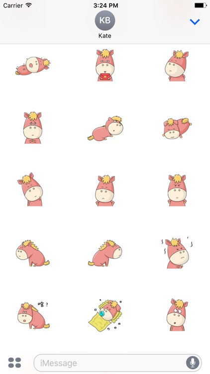 Animated Cute Pony Stickers For iMessage