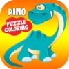 Dinosaurs Puzzle Coloring Pages Game for Kids