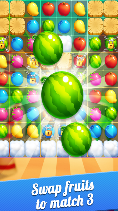 Fruits Garden Story - King of Crush Heroes Games Screenshot on iOS